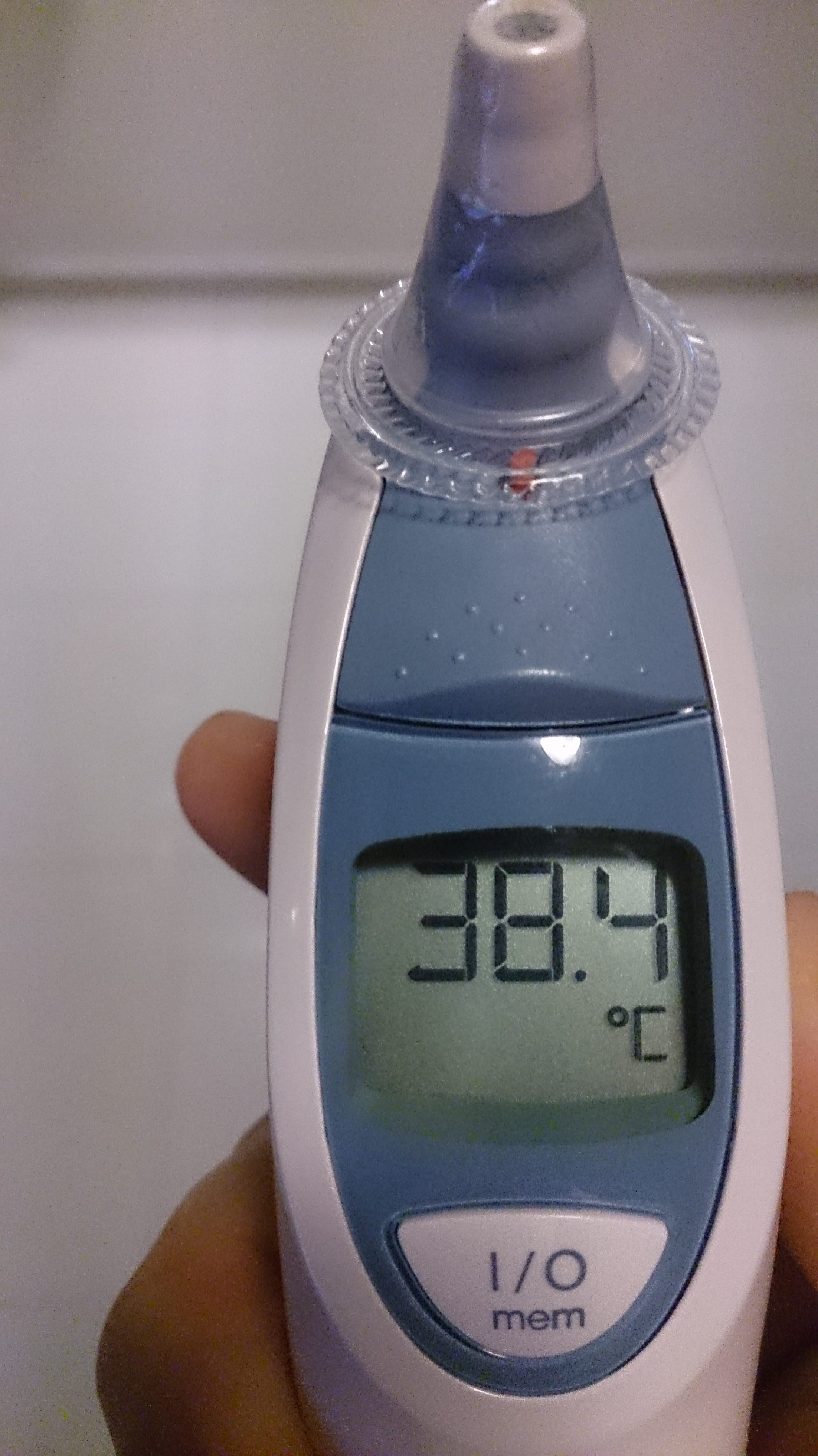 thermometer with fever reading